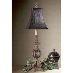 Uttermost Galeana Buffet Iron Floor Lamp (Galeana, Buffet), Silver (Glass)