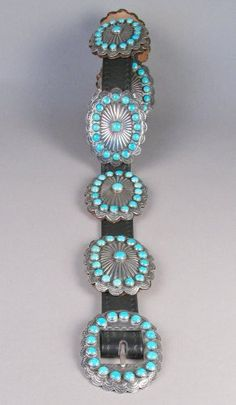 Turquoise Concho Belt c.1950 ....this belt needs me ! It's calling my name !
