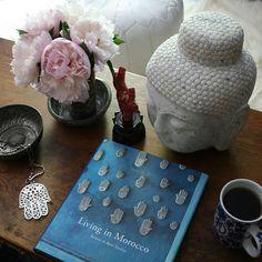peonies, coffee table vignette - apartmentf15 photo