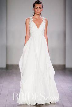 Hayley Paige Gwen A-Line Chiffon Wedding Dress - Spring 2016 - Brides.com