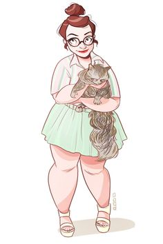 Allie 'n' Lola, part of a great series of characters by Hyacinth-Zofia