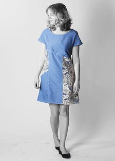"""""""The Essential Denim Dress – FREE PATTERN LC013"""" (quote) Link to the free pattern and tutorial."""
