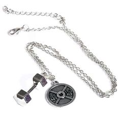 Affitnity - Dumbbell Weight Lifting Plate Necklace