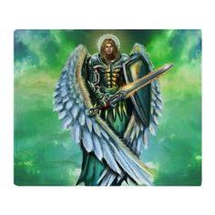 Angel Michael Throw Blanket on CafePress.com