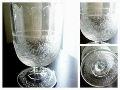 From my collection OAK WREATH aka OAK LEAF WREATH CENTRAL GLASS COMPANY 1880's U.S GLASS AFTER 1891 Leaf Patterns, Mason Jar Wine Glass, Glass Company, Pressed Glass, Tableware, Collection, Bebe, Dinnerware, Tablewares