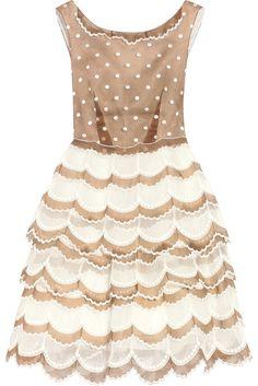 MARC JACOBSScalloped organza dress