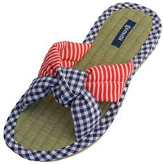 4eb53ec781a1c0 Gemelli Women s Jessie Slippers Slip-on style Bamboo sole Great for the  beach Soft fabric All natural