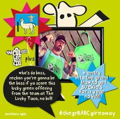 lordy, lordy, with this coveted green apron from the team at The Lucky Taco you'll be whippin' up Tacos de Lengua like a boss, no bull! };8 head on over to our Facebook page, like the post & comment #luckytacoarelaw below before 1pm tomorrow and you're in with a chance to be scoffin' the good stuff };8 #brandmance *terms and conditions apply Hot Store, Green Apron, Nature Drawing, Get Baby, How To Apply, How To Get, Jute Bags, Natural Baby, Like A Boss