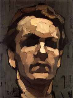 Autoportrait, 1910 by Frédéric Fiebig (Latvian, 1885-1953)