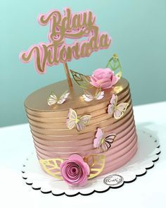 Hello Kitty Birthday Cake, Birthday Cake For Mom, Birthday Cake With Flowers, Watercolor Wedding Cake, Ocean Cakes, Mom Cake, Butterfly Cakes, Birthday Cake Decorating, Cool Wedding Cakes