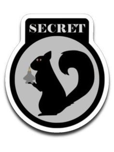 Secret Squirrel Sticker