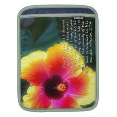 Psalm 27:4 on Dreamy Hibiscus iPad sleeve by Scripture Classics #zazzle #gift #Christian #Bible
