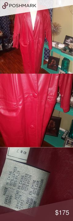 Vintage Laura Jefferies trench leather winter Coat Vintage condition with minor areas of wear.  Trench style See photo with material content  Reasonable offers accepted laura jefferies Jackets & Coats Trench Coats