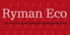 5 tipografías para cambiar el mundo. #RymanEco