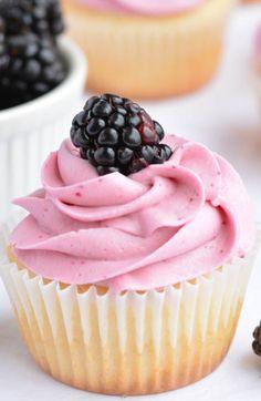 Blackberry Cupcakes by Garnish & Glaze