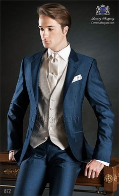 Traje de novio azul 872 ONGala Wedding suit