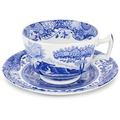 Buy Spode Blue Italian - Breakfast Cup And Saucer from eCookshop! We stock a large range of Spode cookware and tableware products all at fantastic prices. Coffee Cups And Saucers, Teapots And Cups, Cup And Saucer Set, Tea Cup Saucer, Italian Breakfast, Breakfast Cups, Italian Cup, Grand Chef, Blue Dinnerware