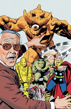 Monsters Unleashed #1 variant cover. Stan Lee, Avengers