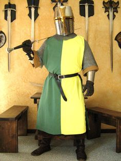Medieval Knight Heraldry SCA Surcoat Tunic Tabard.