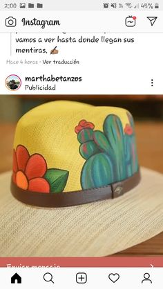 Custom Hats, How To Make, Handmade, Design, Women, 4 H, Sombreros, Caps Hats, Pintura
