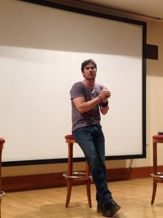 Ian Somerhalder in Moscow, Russia - Q panel at EcoCon for ISF's Russian 26/05/2013
