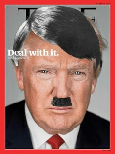 As you may have guessed, these statements don't just describe Donald Trump, they describe Adolf Hitler. These days, Hitler is as much a thing of legend as he is a historical figure — a mustachioed… Donald Trump, Us Politics, Right Wing, Funny Images, Funny Pictures, Hat, American, People, Youtube