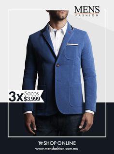 Este #saco sport en color azul es ideal para un #jueves con amigos. Cómpralo aquí: www.mensfashion.com.mx