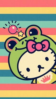 Hello kitty iPhone 壁纸 锁屏 微信 背景 平铺 手绘 插画
