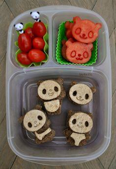 Bentoriffic  black & white panda bento plant based vegan lunchbox @Kelly Teske Goldsworthy lester #easylunchboxes