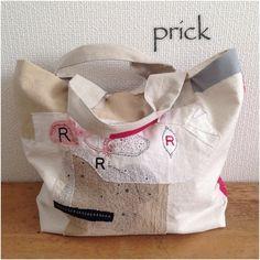 sashiko bag, minne(ミンネ)| ステッチコラージュ/大きなトート