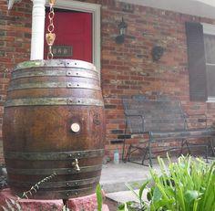 Wine barrel rain barrel - love this!