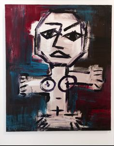 baby marcelo -totem + - acrylic on canvas