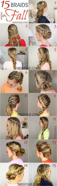 15 Braids for Fall   MissySue.com