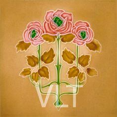 Art Nouveau Reproduction Tile #65, from Villa Lagoon Tile