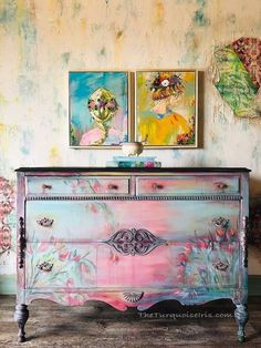 Fixer Upper Hutch Furniture Makeover – Carousel Dresser My goodness! I have had the very best time with this fixer upper dresser! It took a while to complete but so worth the ending look. I'm calling it The Carousel Dresser. Below are steps 5 through Hutch Furniture, Chalk Paint Furniture, Hand Painted Furniture, Funky Furniture, Refurbished Furniture, Repurposed Furniture, Shabby Chic Furniture, Furniture Projects, Furniture Makeover