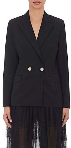 Osman Women's Stretch-Wool Double-Breasted Jacket
