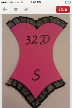 Bridal Shower Invite... to know what sizes to get haha :)