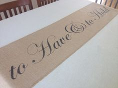 to Have & to Hold burlap table runner by ThisJoyfulHomeetc on Etsy (Home & Living, Kitchen & Dining, Linens, Table Linens, place mat, placemat, table setting, linen, table runner, hostess, gift, dining, decor, wedding, Valentine, bride, bridal shower)