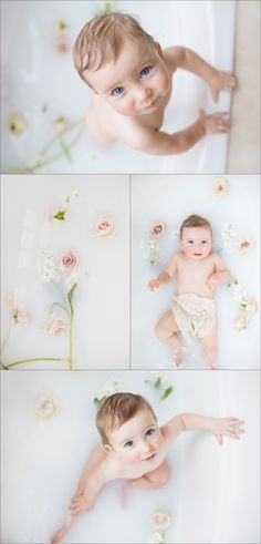 milk bath session : boston baby portraits