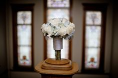 Matt Shumate Photography at Glover Mansion wedding details white roses flower bouquet