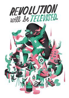 Illustrations by Ville Savimaa | Inspiration Grid | Design Inspiration