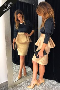 Church Outfits, Mom Outfits, Skirt Outfits, Outfit Vestidos, Mode Chic, Autumn Street Style, Peplum Dress, Party Dress, Fashion Dresses