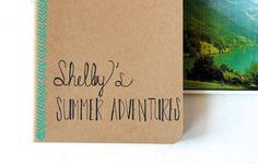 Personalized Travel Journal  Custom Going Away Gift by DegnodiNota, $21.00