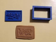 Willy Wonka Inspired Wonka Bar Cookie Cutter with Detail Impression Disc/Fondant/Candy/Soap Cutter Willy Wonka inspiriert Wonka Bar Ausstecher mit Detail Impression Disc / Fondant / Candy / Seifenschneider Shape Design, Print Design, Soap Cutter, Willy Wonka, Chocolate Factory, Candy Making, Cookie Bars, Safe Food, Cookie Cutters