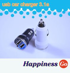 New Universal 12V-24V 2 Port USB 3.1A DC Car Charger USB Power Adapter For Cellphone tablet PC