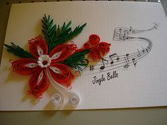 Quilling added to a  printed page ~ awesome!