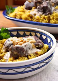 A traditional Palestinian recipe for mansaf, a dish of braised lamb in a fermented yogurt sauce.