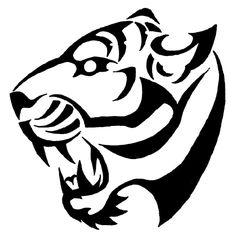 tiger tribal art   Tribal Tiger Tattoos- High Quality Photos and Flash Designs of Tribal ...