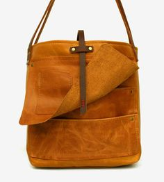 Brooklyn Leather Tote Bag by In Blue Handmade on Scoutmob