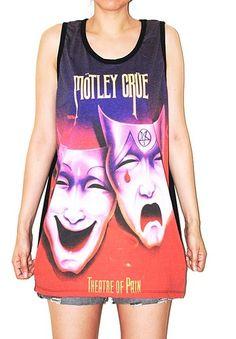 Mötley Crüe Singlet Tank Top Photo Transfer Art Indie T-Shirt Size L